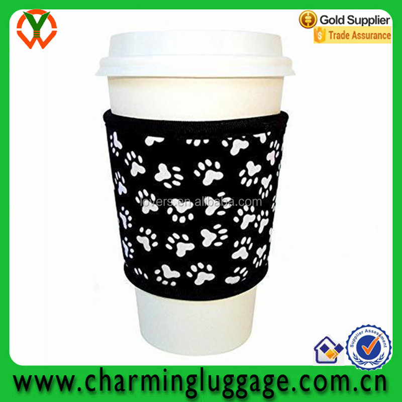 custom wholesale 3mm neoprene coffee cup sleeve