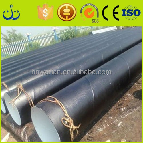 China manufacture high quality black welded round steel pipe