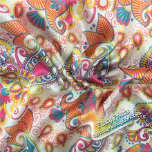 Sell well new type floral printed satin fabric