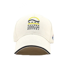 Promotional custom normal embroidery logo patch white baseball cap with Sandwich brim