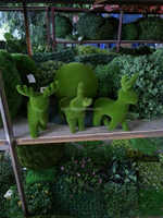 factory artificial grass topiary china/manufacture fake grass animal