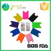 Hot sale colorful cheap promotional gift silicone phone card holder