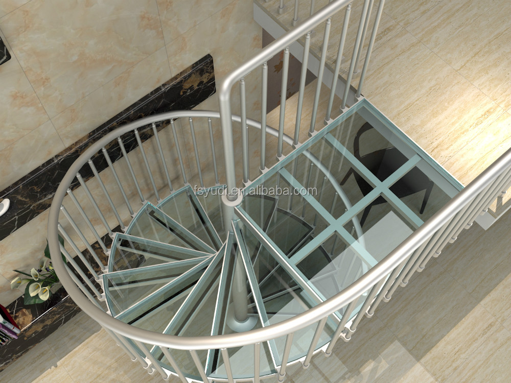 Prefabricated portable aluminum spiral stairs yudi buy for Aluminum spiral staircase prices