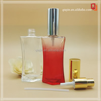Luxury Packaging red clear cosmetic perfume fragrance glass sprayer bottle pump sprayer glass bottle for essential oil