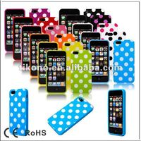Durable wave point pc hard case for iphone5 with multicolor