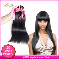 7A brazilian straight hair wigs natural black virgin brazilian straight hair weave bundles