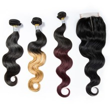 professional manufacturer 100% malaysian virgin hair different types of body curl red gray color blonde hair weave