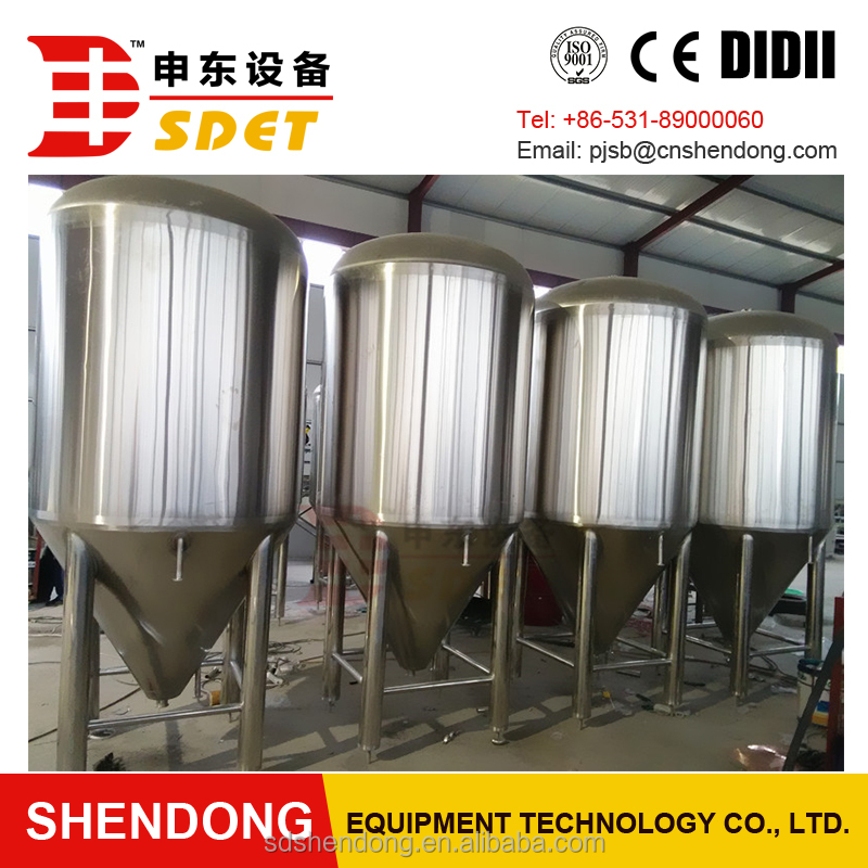 Alcohol beer conical stainless steel fermentation tank