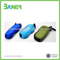Promotional waterproof colorful light soft neoprene eyeglass case