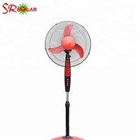 Hot sale DC12v solar brushless table ventilation fan with battery