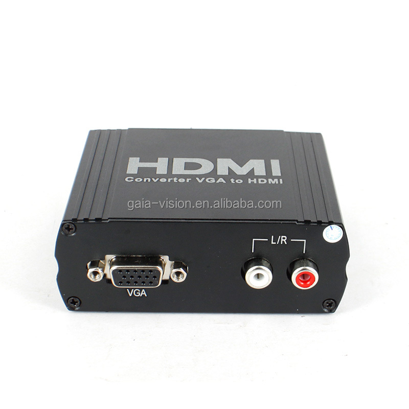 Mini HD 1080P Audio VGA+L/R To HDMI HD HDTV Video Converter Box Adapter