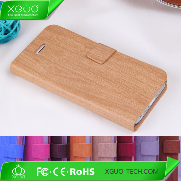 wood pattern surface for iphone 5c wallet case transparent plastic body