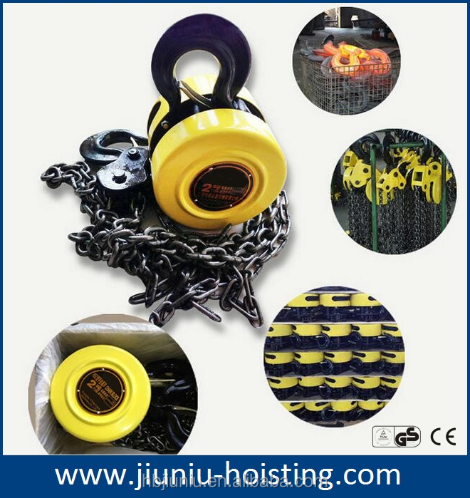 China manufacturer supplying 2 ton chain pulley block, chain block hs type