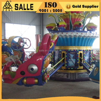 Theme park kids amusement rides up and down Blue Planet Indoor or Outdoor Amusement Games