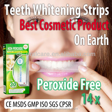 All express teeth health care teeth whitening non peroxide strip kit