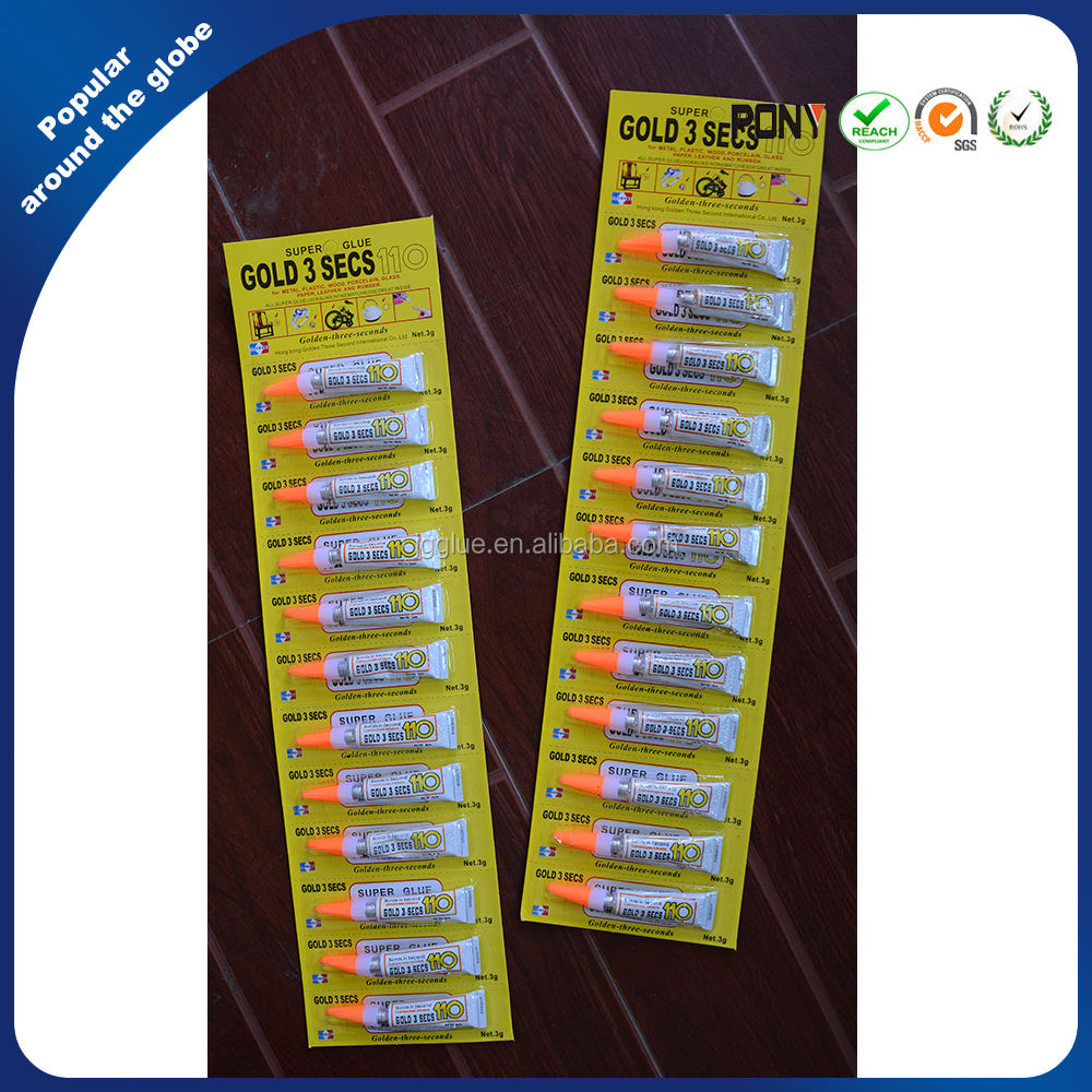 Super Glue 110 Yellow Card From Direct Yiwu Factory For OEM & ODM