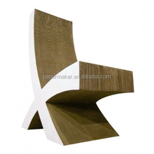 cardboard X shaped design paper chair
