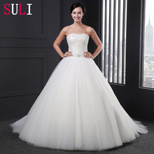 Z-011 New Arrival Strapless Tulle Beaded Alibaba Wedding Dress 2016