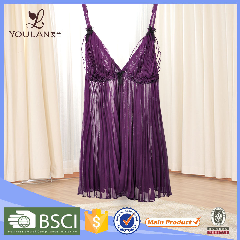 Wholesale Plus Size Cheap Mature Nightwear sexy baby doll lingerie