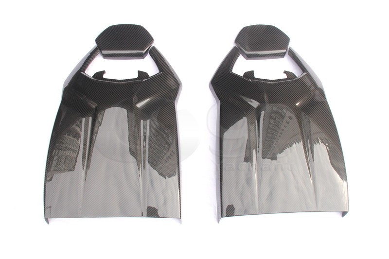 Trade Assurance Dry Carbon Fiber Seat Head Rest & Back Rear Cover Fit For 11-14 Aventador LP700 Seat Head Rest & Back Rear Cover