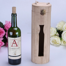 Customized Round Wood Wine Box Accepted OEM.gift wine box