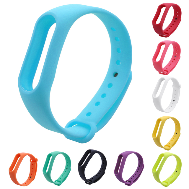 NI5L Replace Strap for Xiaomi Mi Band 2 Silicone Wristbands for Mi Band 2 Smart Bracelet 10 for Xiao Mi Band 2