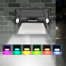 New design Dual Headed Motion Sensor 180wide angle sensitivity Solar led outdoor wall light