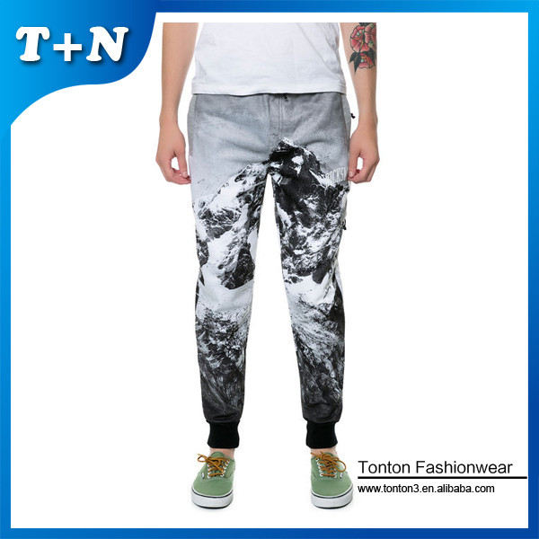 hot sale newest customized mens baggy sublimation jogger pants