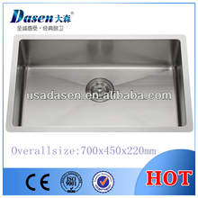 DS7045 10mm radius large size laundry handmade kitchen sink