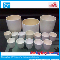 99% High Purity Alumina Ceramic Crucible / Melting Pot With Good Thermal Shock Property