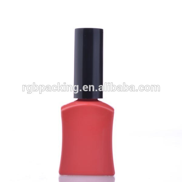 Wholesale unique 16ml soak off nail color container with black cap