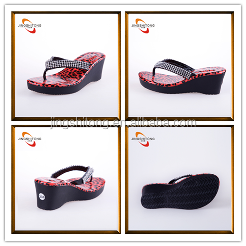 Leopard high heels beautiful ladies new chappals with price