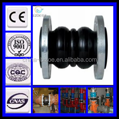 galvanized/made in china/hot sales/iso certificate/forging double sphere flanged rubber expansion joints