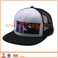 2016 Customized 6 panels 3D Raised Embroidery Children Flat Mesh Trucker Cap