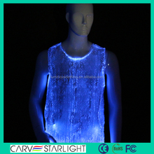 men's shirts with RGB LED lights lighting led clothes lighted tank tops