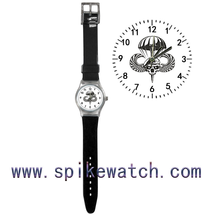 Skull watch face with numbers plastic watch with black band cool human skeleton watch