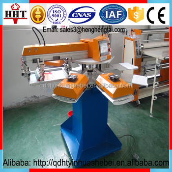 Automatic garment t shirt silk screen printing machine for for T shirt screen printers for sale