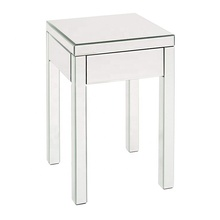 Fuzhou Fytch modern end table with drawer silver mirrored nightstand finish side table living room <strong>furniture</strong>