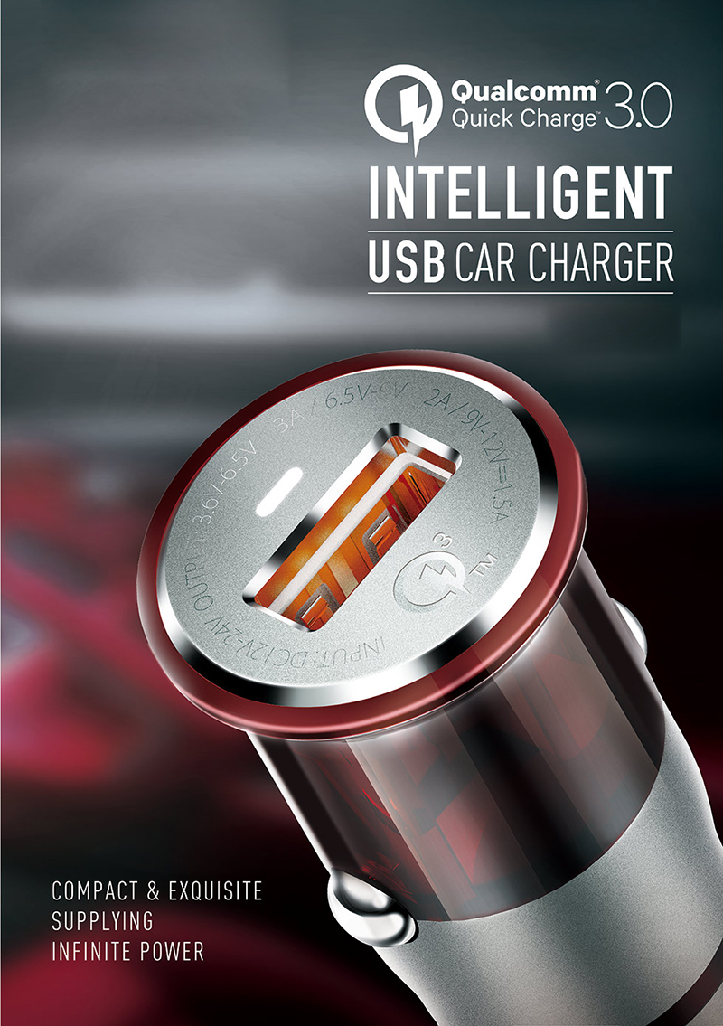 Cheap 3A Single Port QC3.0 Car Charger USB2.0 Charger