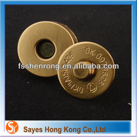 Pants Magnetic Snap Clothes Parts Magnetic Metal Nickle Magnetic Button Wholesale