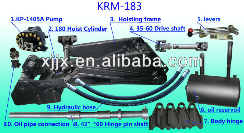 Dump Truck Hydraulic Hoist engine hoist hydraulic cylinder KRM183B for sale in stock
