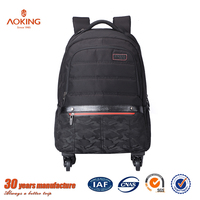 Aoking travel/school trolley backpack with detachable wheels/.