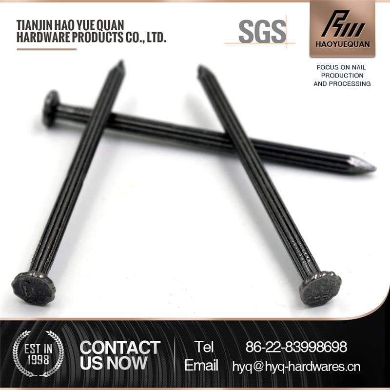 4.2*75mm high quality hot sale good quality black stainless steel concrete nail manufacture from china for construction