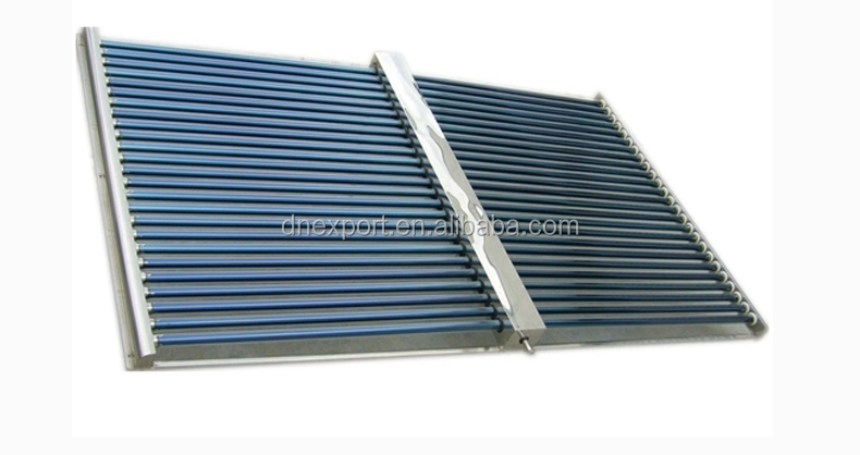 Horizontal type Double side vacuum tube solar collector ,mainfold tube 58