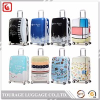 Lady Hand Luggage Bag With Print , Cargo Carrier Abs Bag Luggage