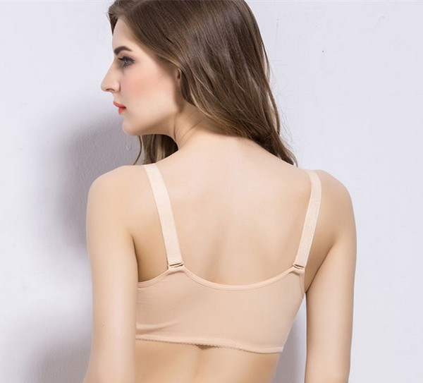 OEM Supplier Fashionable Busty Front Closure Mastectomy Bras For Women Prothesis False Silicone Breasts Forms Zipper Style
