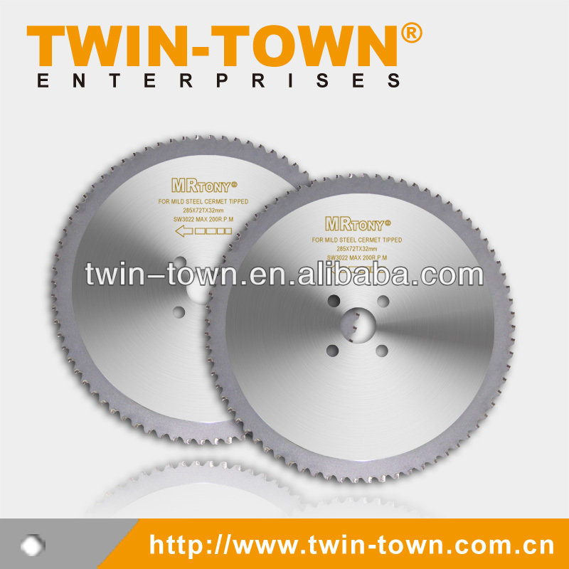 Cermet-Tipped Mild Steel Solid Bar Cutting Cold Saw Blade