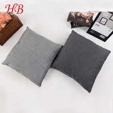 100% polyester solid micromink wholesale custom embroidery cushion covers