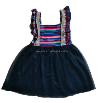 Yawoo tank tunic smocked tulle dress trendy baby clothing fashion dresses for girls