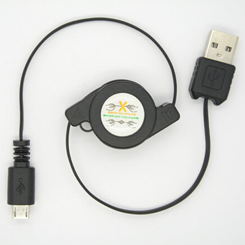 Mobile phone charging micro USB retractable data cable